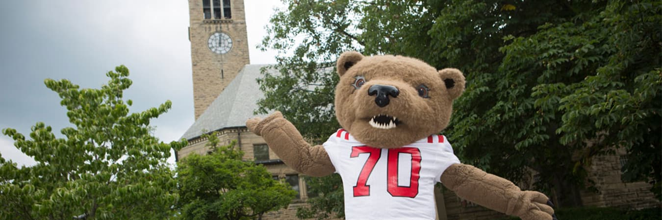 Touch Down standing by McGraw Tower
