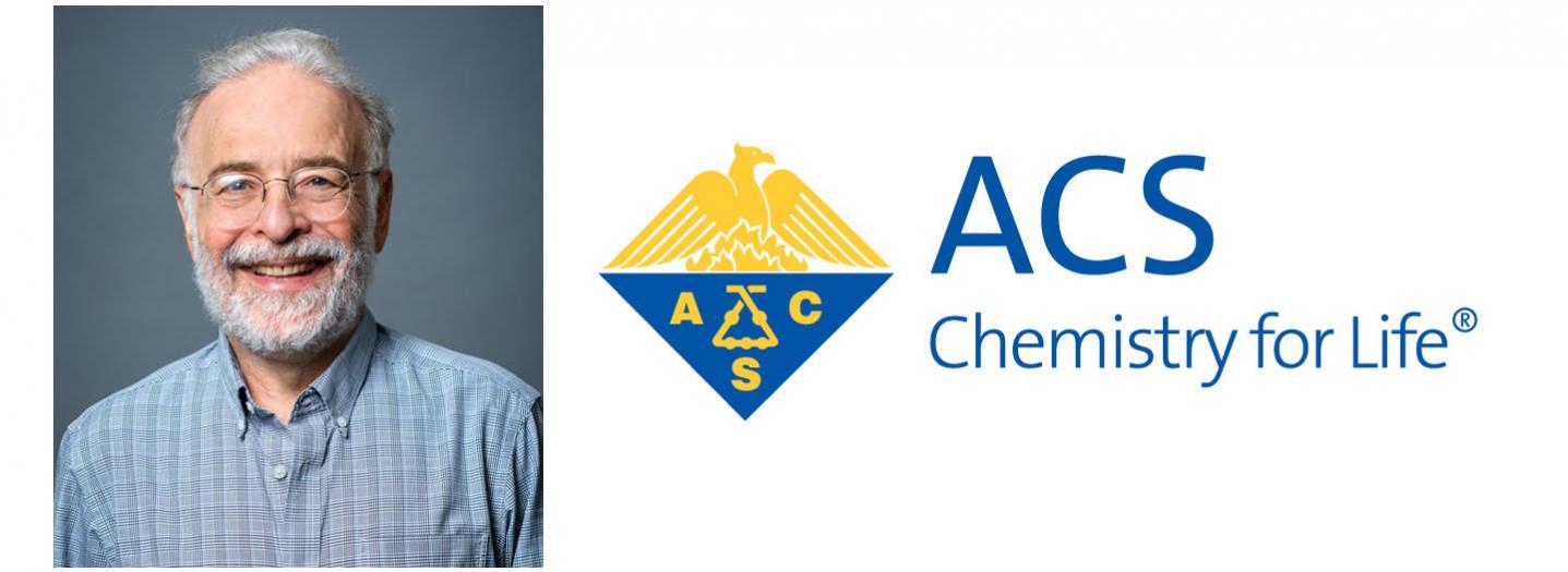 """Prof. Hector """"Tito"""" Abruña and ACS logo"""