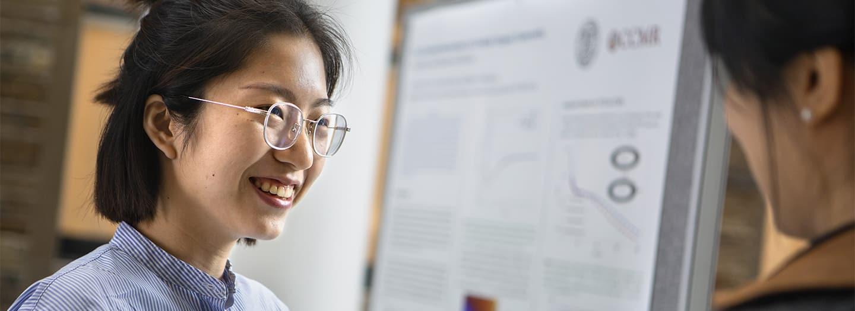 Graduate Student, Yan Yang present her research